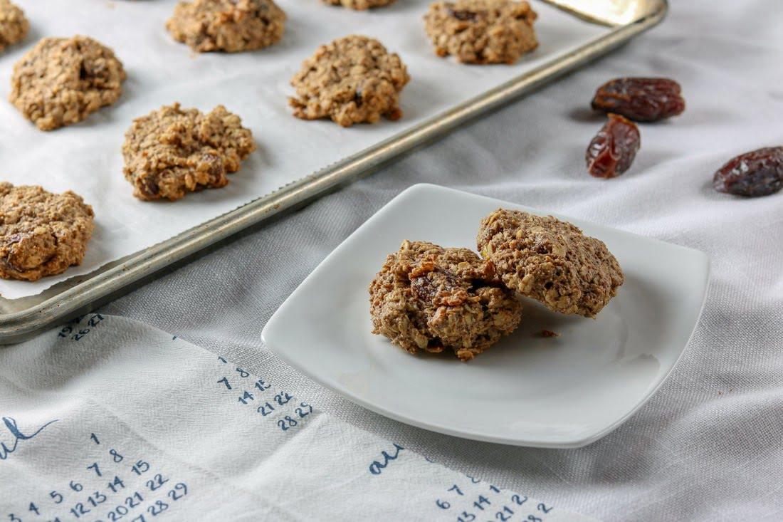Gluten-Free Banana Date Breakfast Cookies