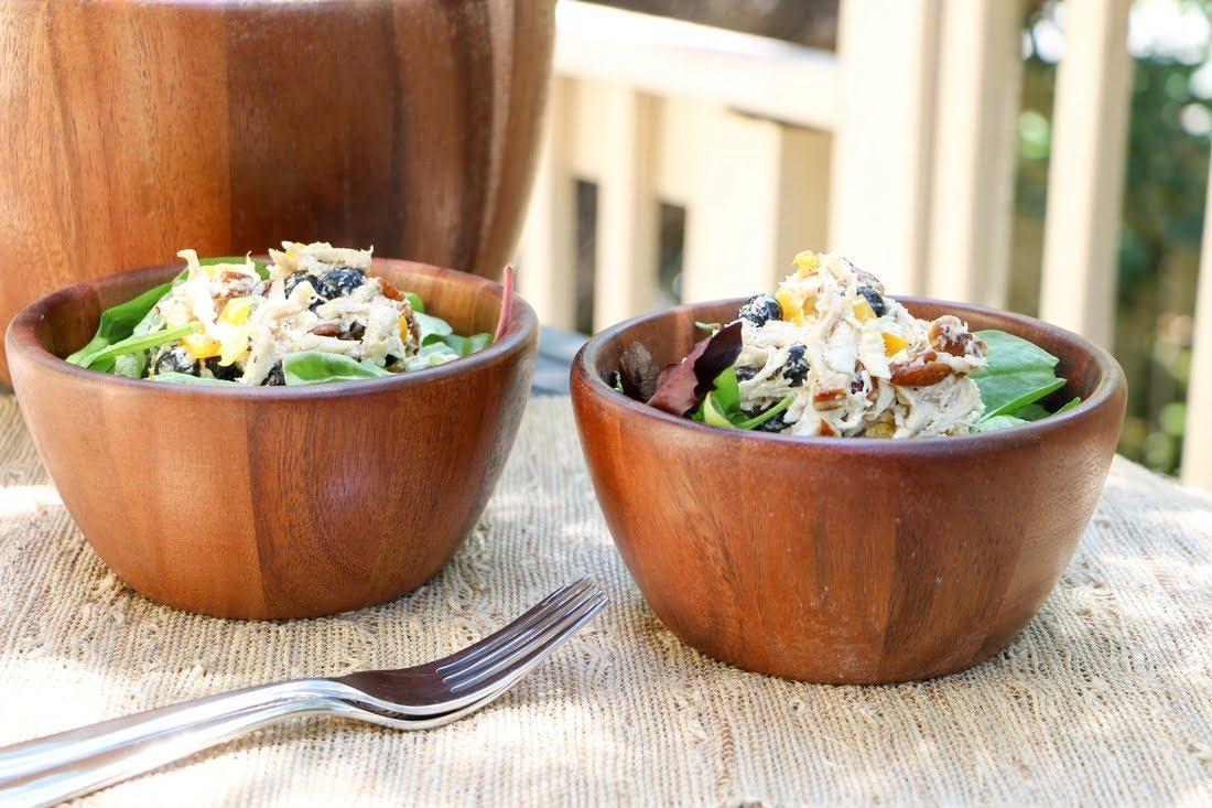 Blueberry Pecan Chicken Salad (GF, DF)