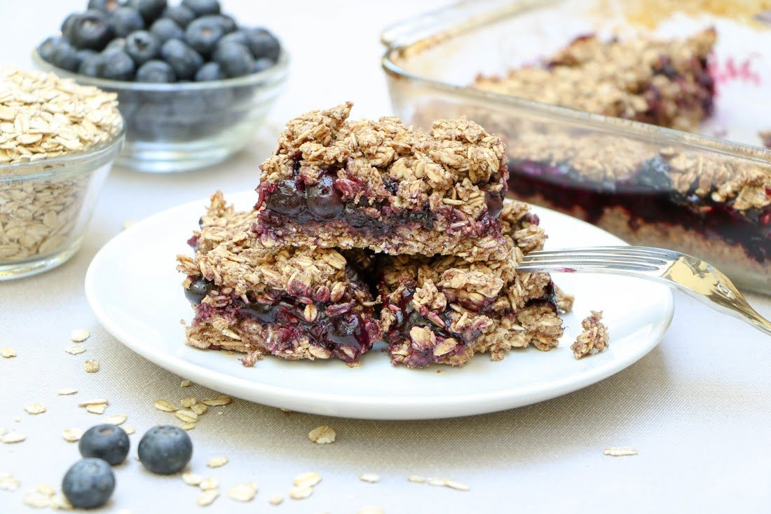 Blueberry Oat Squares (GF, DF)