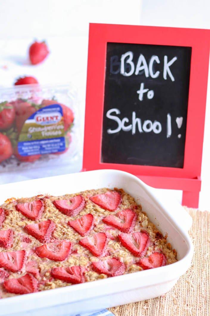 Strawberry Oatmeal Bake (GF, DF)
