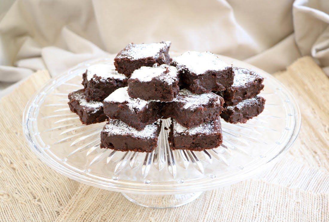 Fudgy Avocado Blender Brownies (GF, DF)