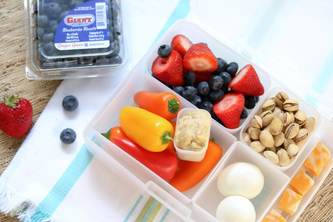 Protein Bento Box with Berries
