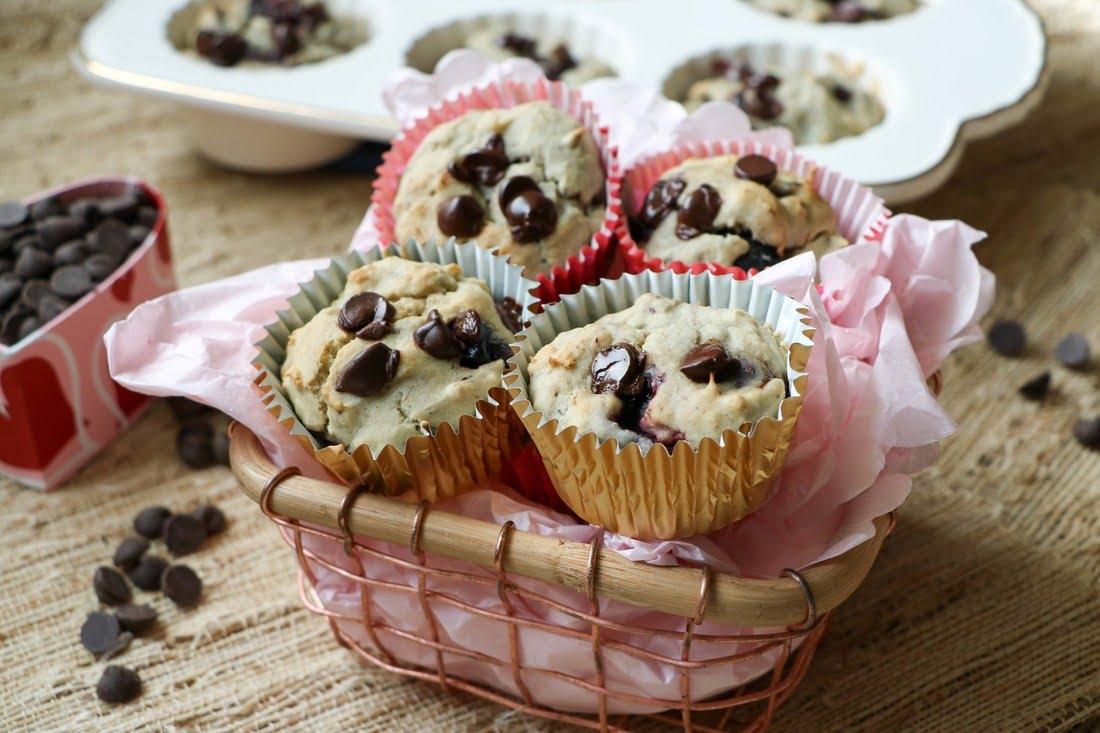 Chocolate Cherry Muffins (Gluten-Free, Dairy-Free)