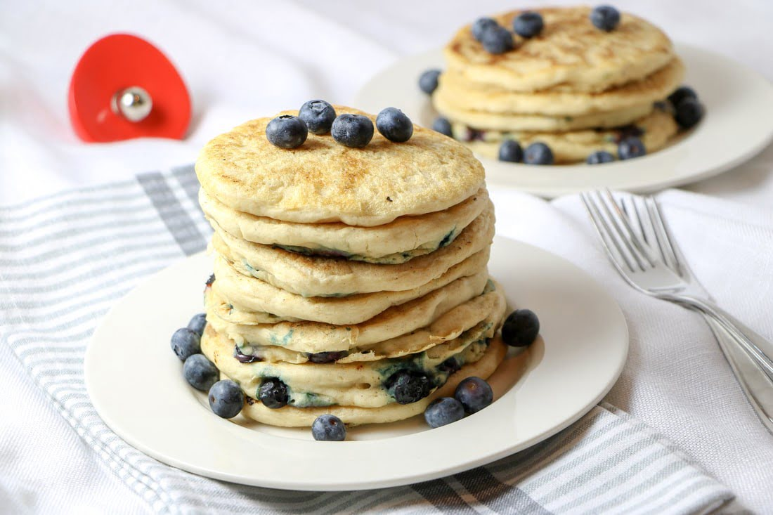 Fluffy Blueberry Pancakes (GF, DF
