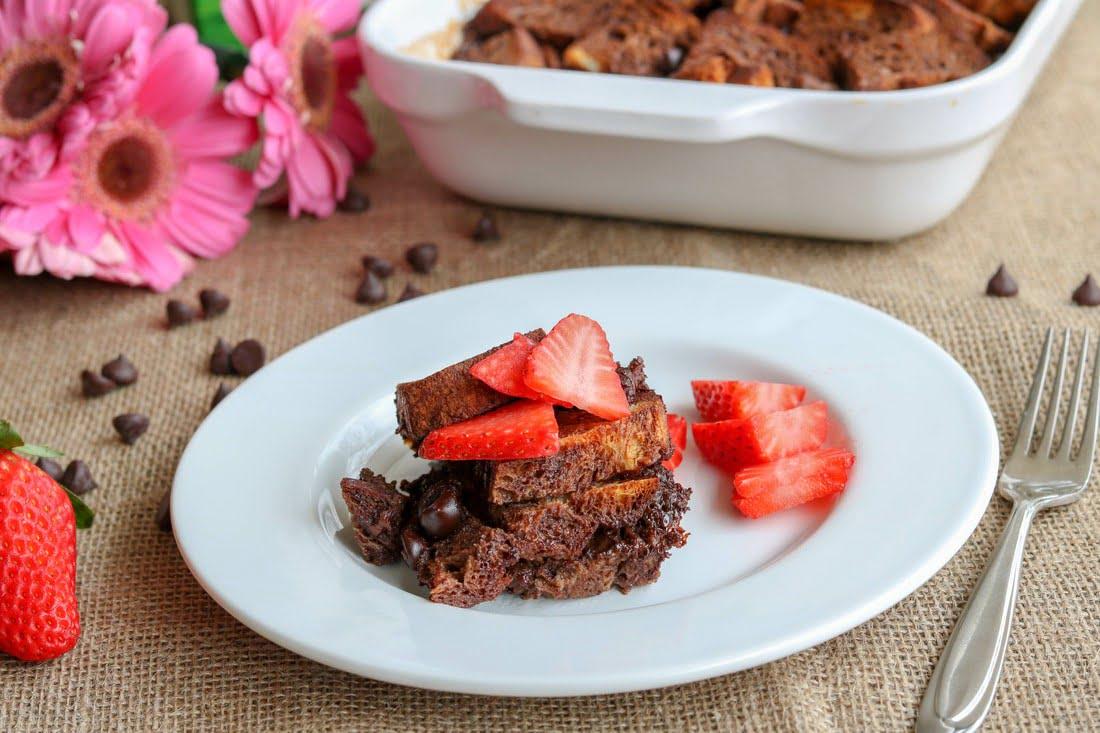 Gluten Free Triple Chocolate Bread Pudding