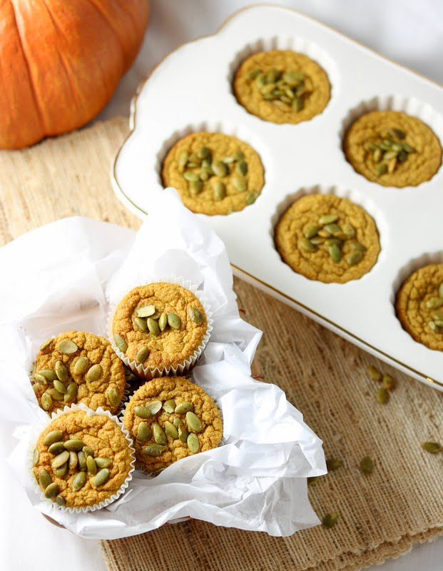 Grain-Free, Sugar-Free, Dairy-Free Pumpkin Muffins