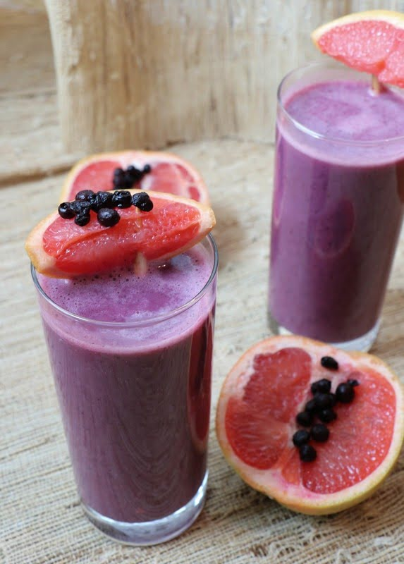 Wild Blueberry Tropical Citrus Smoothie