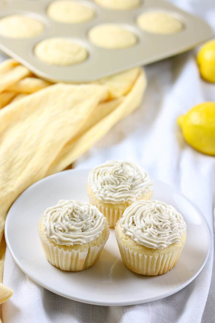 Gluten-Free Lemon Cupcakes with Lemon Buttercream Frosting