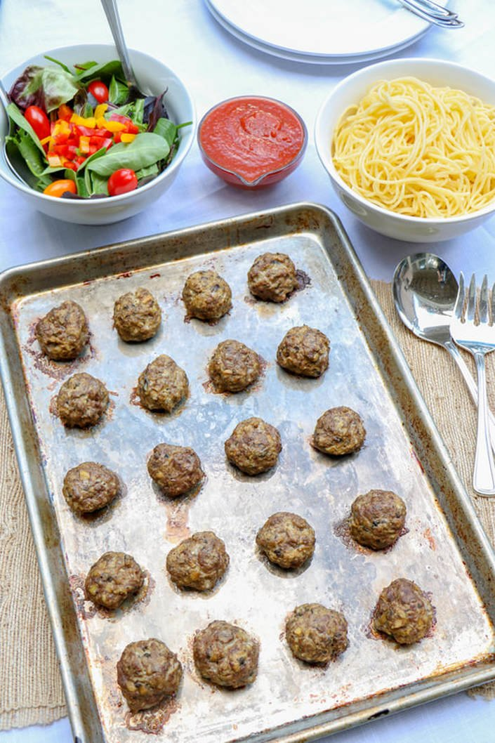 Beef and Mushroom Blended Meatballs (GF, DF)