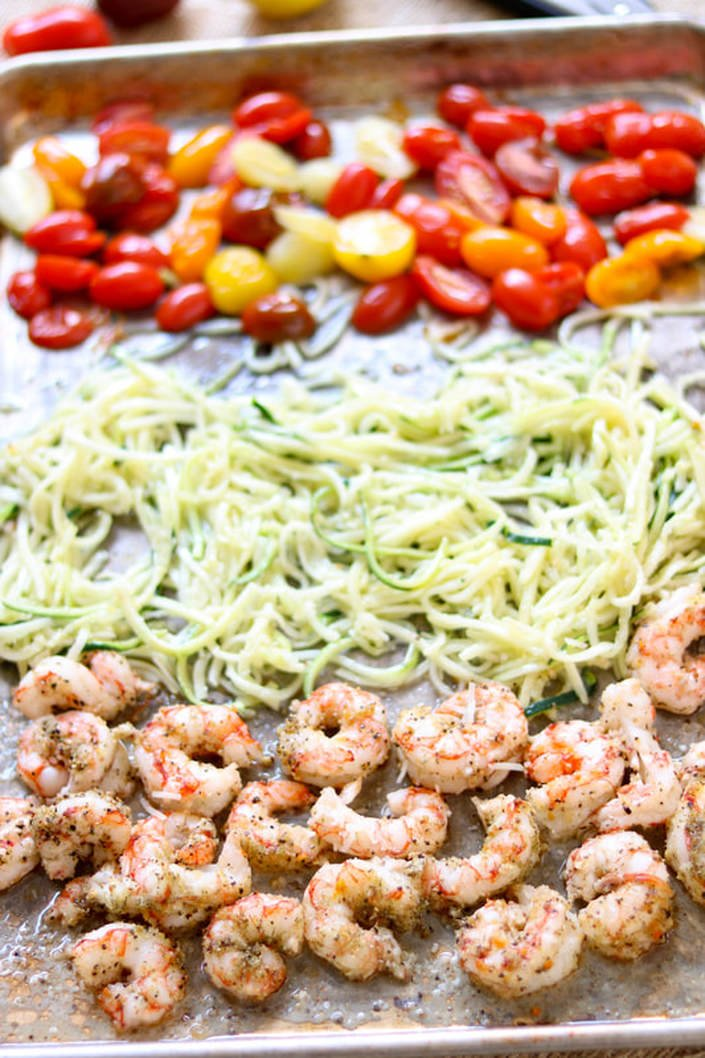 Citrus Shrimp and Zoodle Sheet Pan Meal