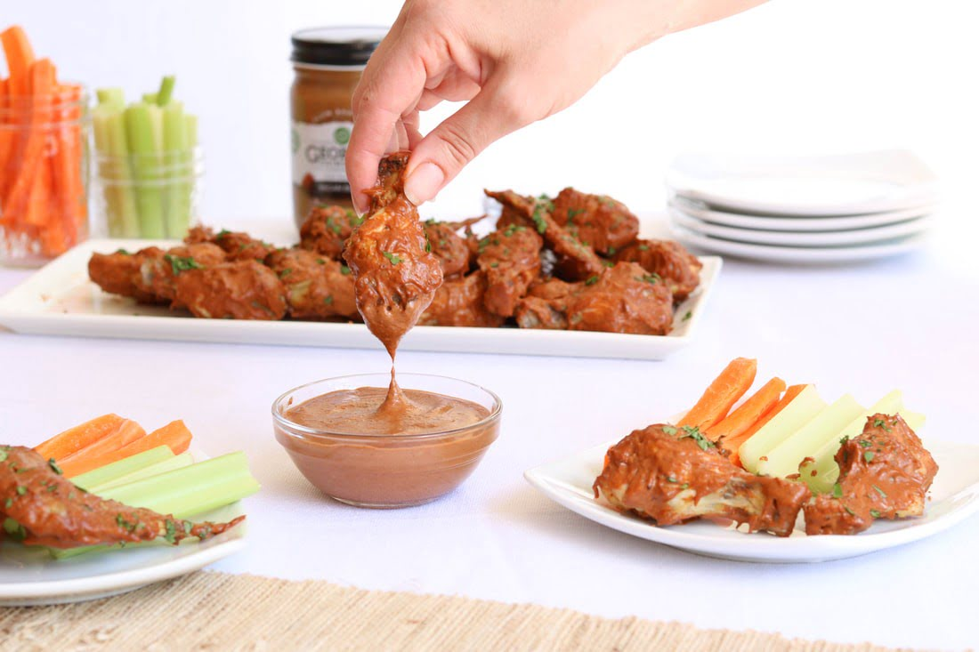 Whole30 Approved Spicy Pecan Butter Wings