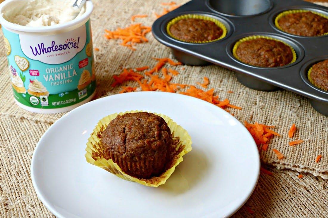 Lighter Carrot Cake Cupcakes, Gluten Free, Dairy Free