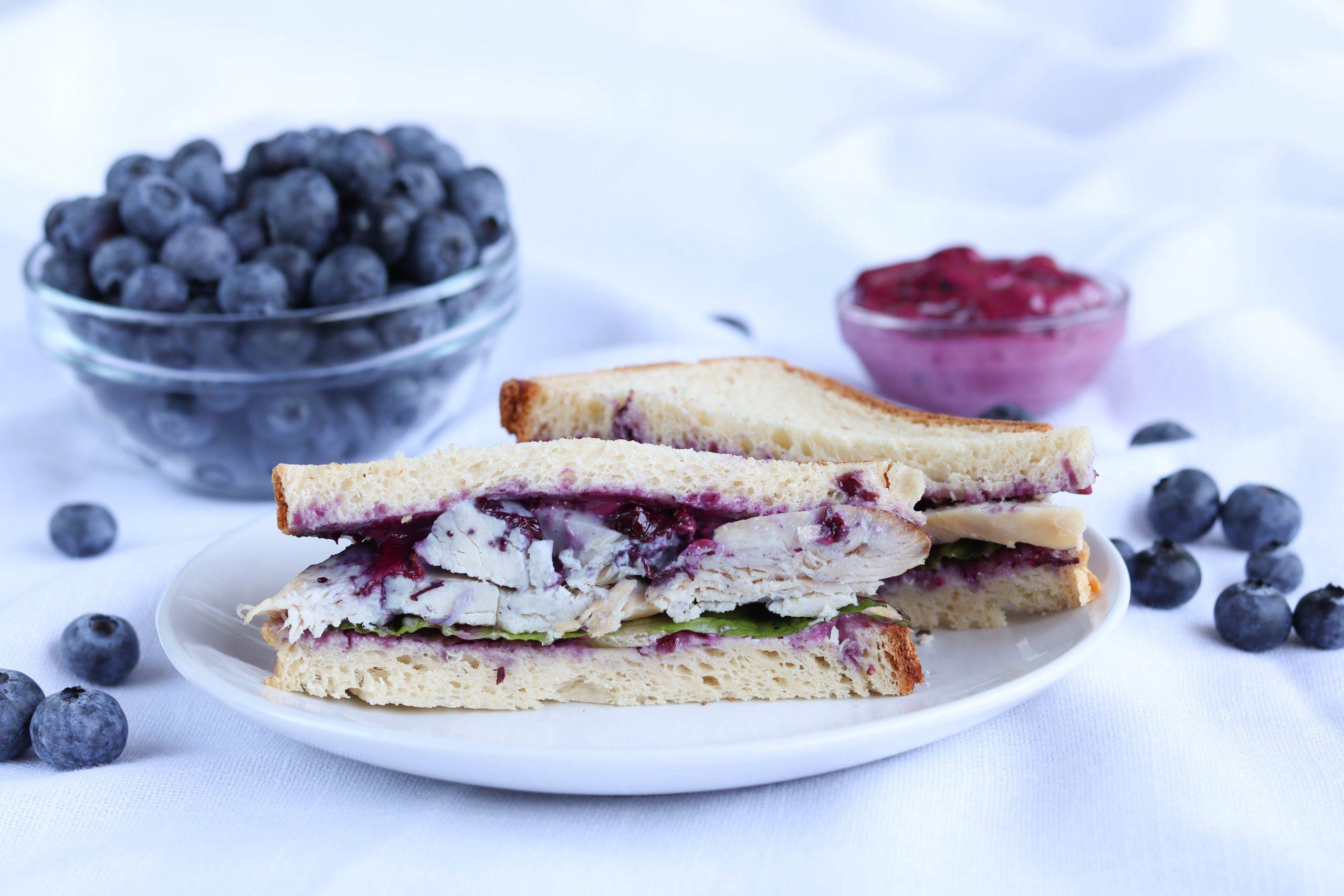 Turkey Sandwich with Blueberry Mayo