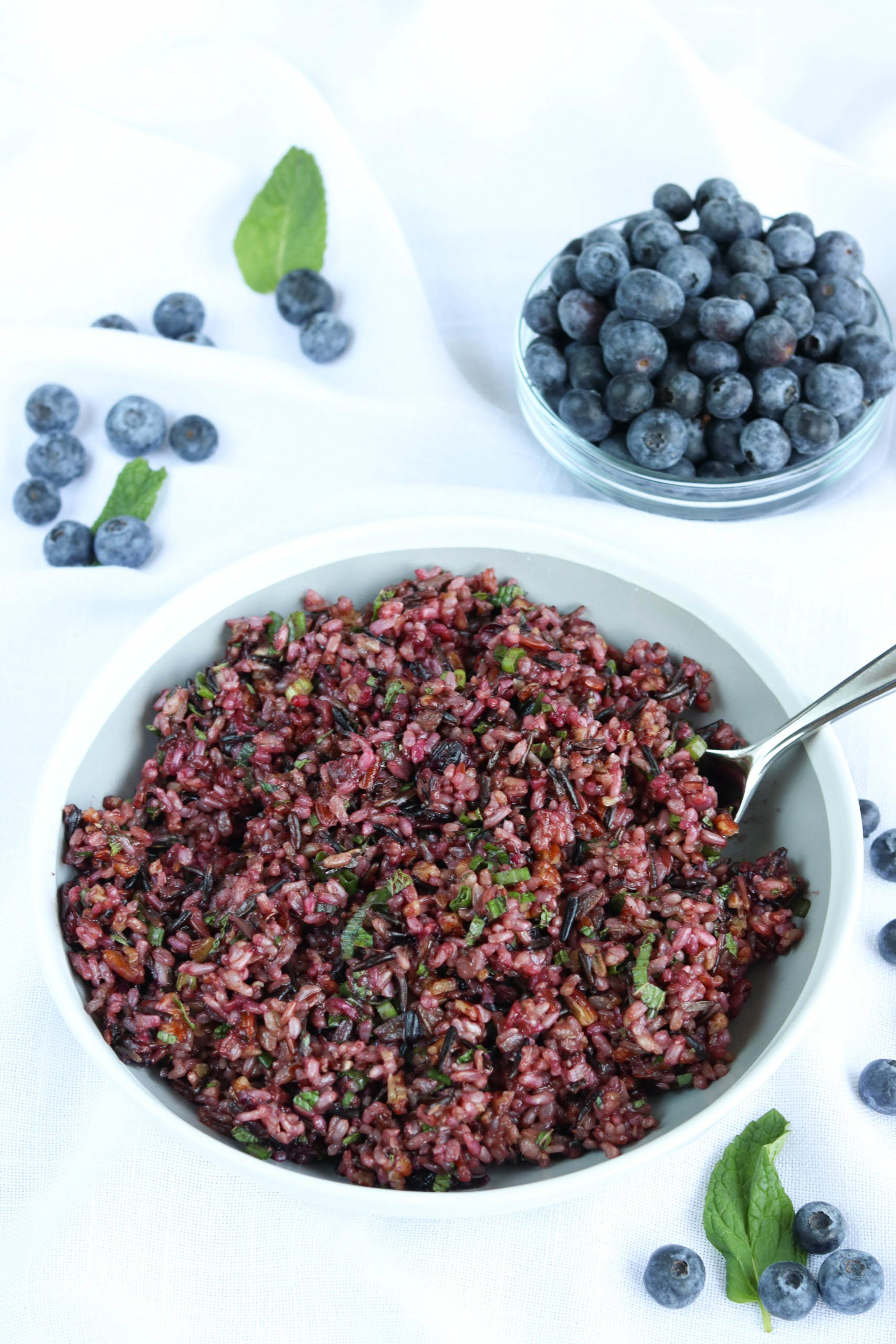 Blueberry Wild Rice Salad with Fresh Blueberries