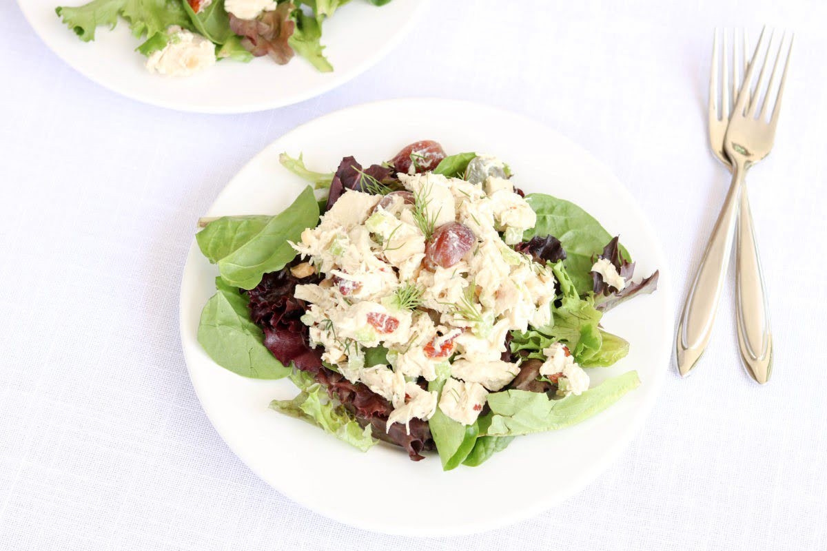 Whole30 Dill Chicken Salad on Greens