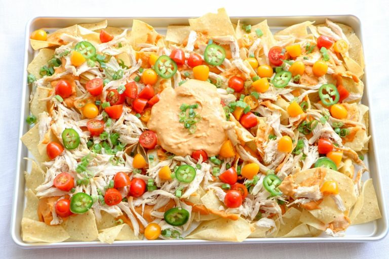 Chicken nachos with leftover chicken